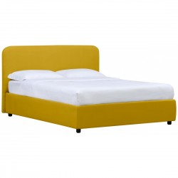 Doppelbett Senfgelb