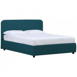 Doppelbett Blau