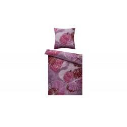 HOME STORY Satin Bettwäsche Blumen ¦ rosa/pink